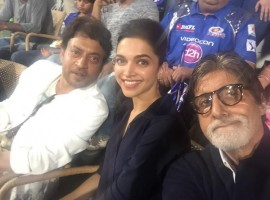 Amitabh Bachchan, Deepika Padukone and Irrfan Khan Spotted at Wankhede stadium