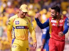 Dhoni and Virat Kohli