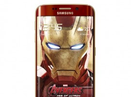 Samsung Galaxy S6 Edge Iron Man smartphone