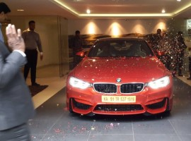 BMW M4 Hits Bangalore Road
