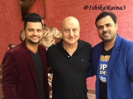 Suresh Raina on the sets of Anupam Kher Show
