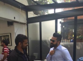 Jr NTR's Working stills from Sukumar Movie