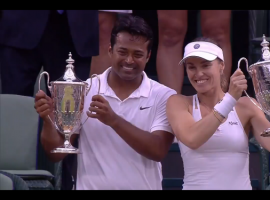 Leander Paes and Martina Hingis wins Wimbledon Mixed Doubles Final