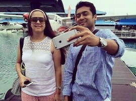 Suriya and Jyothika in Maldives