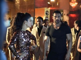 John Abraham and Shruti Haasan at Welcome Back Song Shooting