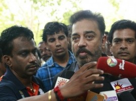 Actor Kamal Hassan pays his last respect to MS Viswanathan