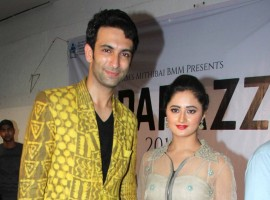 Nandish Sandhu and Rashmi Desai at Mithibai College