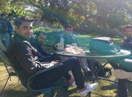 Team India outing at wildlife reserve in Zimbabwe