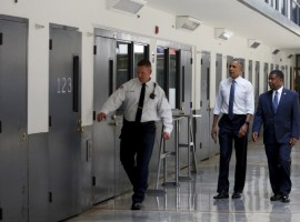 Barack Obama becomes first president to visit US Prison