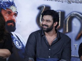 South Indian Actor Prabhas at Baahubali Success Meet.