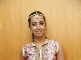 South Indian Actress Sanjjanaa at TSR TV9 National Film Awards.