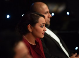 Bollywood Actress Sonakshi Sinha gets emotional on the sets of Indian Idol Junior.