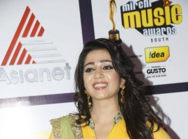 South Indian Actress Charmy Kaur at Mirchi Music Awards 2014 Red Carpet.