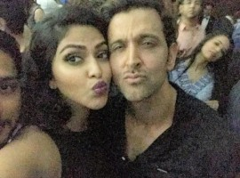 South Indian Actress Amala Paul selfie with Bollywood Actor Hrithik Roshan.