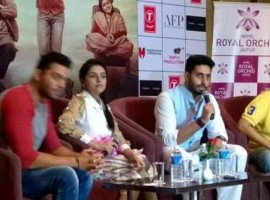 Bollywood Movie All is Well Press Meet in Jaipur. Abhishek Bachchan and Asin graced the event.