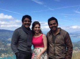 Photos of Tamannaah, Akkineni Nagarjuna and Karthi in France for PVP Untitled Movie.