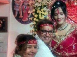 Controversial godwoman Radhe Maa with Subhash Gai and other celebrities, who are her devotees