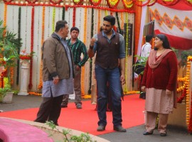 Bollywood Movie All is Well Promotion on the set of Badi Door Se Aye Hain.