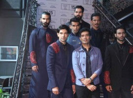 Fashion designer Manish Malhotra's special preview of his upcoming Lakme Fashion Week Winter 2015 collection. An event held at Palladium Hotel on Tudesay Morning.