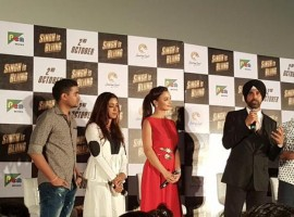 Singh Is Bling Trailer Launch Photos. Singh Is Bling is an upcoming Bollywood action comedy film directed by Prabhudheva and produced by Grazing Goat Pictures.