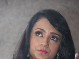 South Indian Actress Trisha Krishnan at Nayagi Movie Launch.