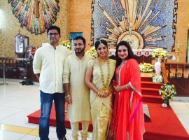 South Indian actress Muktha has been engaged to singer Rimi Tomy's brother Rinku Tomy.