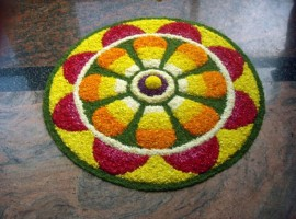 The harvest festival Onam is celebrated on the month of Chingam.