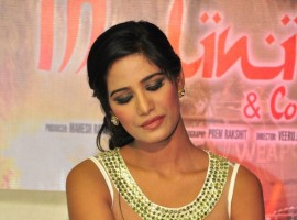 Indian Actress Poonam Pandey Promotes Malini and Co Movie.