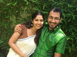 Actress Muktha and Rinku Tomy celebrated their Onam together this year before their wedding.