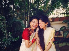 Sai Pallavi celebrated the first Onam with her family.