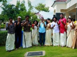 Malayalam celebrities celebrated Onam 2015 on Friday, 28 August.