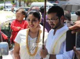 Muktha and Rinku Tomy got married on Sunday, 30 August.