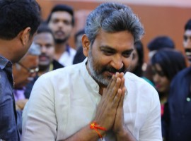 Telugu Director Rajamouli at Shivarajkumar daughter Nirupama-Dileep Wedding reception.