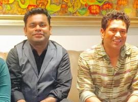Cricket legend Sachin Tendulkar met music maestro AR Rahman