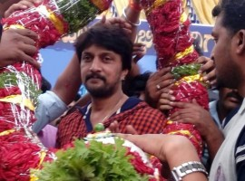 Photos of Kichcha Sudeep 42nd Birthday Celebrations.