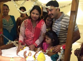 Golden Star Ganesh Son VIhaan's Naming Ceremony.