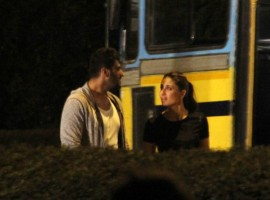 Bollywood Actress Kareena Kapoor Khan and Actor Arjun Kapoor Spotted Shooting for Ki & Ka Movie.