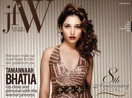 South Indian Actress Tamannaah Bhatia photoshoot for JFW Magazine.