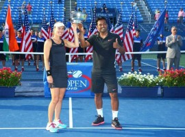 Leander Paes, Martina Hingis Win US Open Mixed Doubles Title of 2015