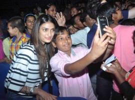 Bollywood Actress Athiya Shetty and Actor Sooraj Pancholi at Hero Special Screening for NGO Kids.
