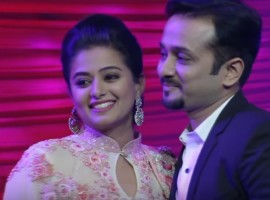 Priyamani is seen with her fiance Mustafa Raj during the finale episode of Gum On 'D2 - D4 Dance'