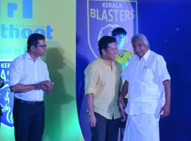 Cricket legend Sachin Tendulkar, the owner of Kerala Blasters (Indian Super League football team) unveiled his team members on Wednesday, 16 September.
