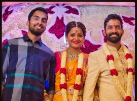Cricketer Dinesh Karthik and ace squash player Deepika Pallikal Wedding Pictures.