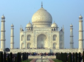 Taj Mahal was built by Emperor Shah Jahan in memory of his wife and is one of the world's most famous monuments.