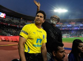 The second season of the Indian Super League got underway on Saturday with a dazzling opening ceremony in Chennai. Superstar Rajnikanth, Sachin Tendulkar, Arjun Kapoor, Aishwariya Rai, Amitabh Bachchan, Mukesh Ambani, Alia Bhatt and others attended the event.
