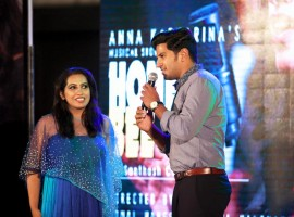 Dulquer Salmaan attended Anna Katharina Valayil Chandy's 'Honey Bee' music launch.