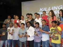 Killing Veerappan audio launch event held in Bangalore. Hattrick Hero Shivaraj Kumar, Director Ram Gopal Varma, Actor Yash, Actress Parul Yadav, Sanchari Vijay, Yagna Shetty and others graced the event.