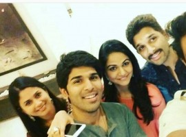 South Indian superstar Allu Arjun celebrated Diwali -- the festival of colours-- with his family.