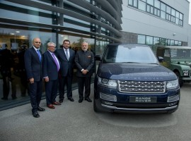 The PM was shown around the facility at Solihull in England by Tata Group chairman Cyrus Mistry, Jaguar Land Rover (JLR) CEO Ralf Speth