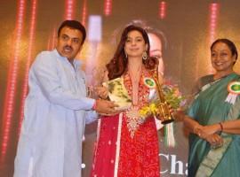Bollywood Actress Juhi Chawla received the Indira Gandhi Memorial Award for social awareness.